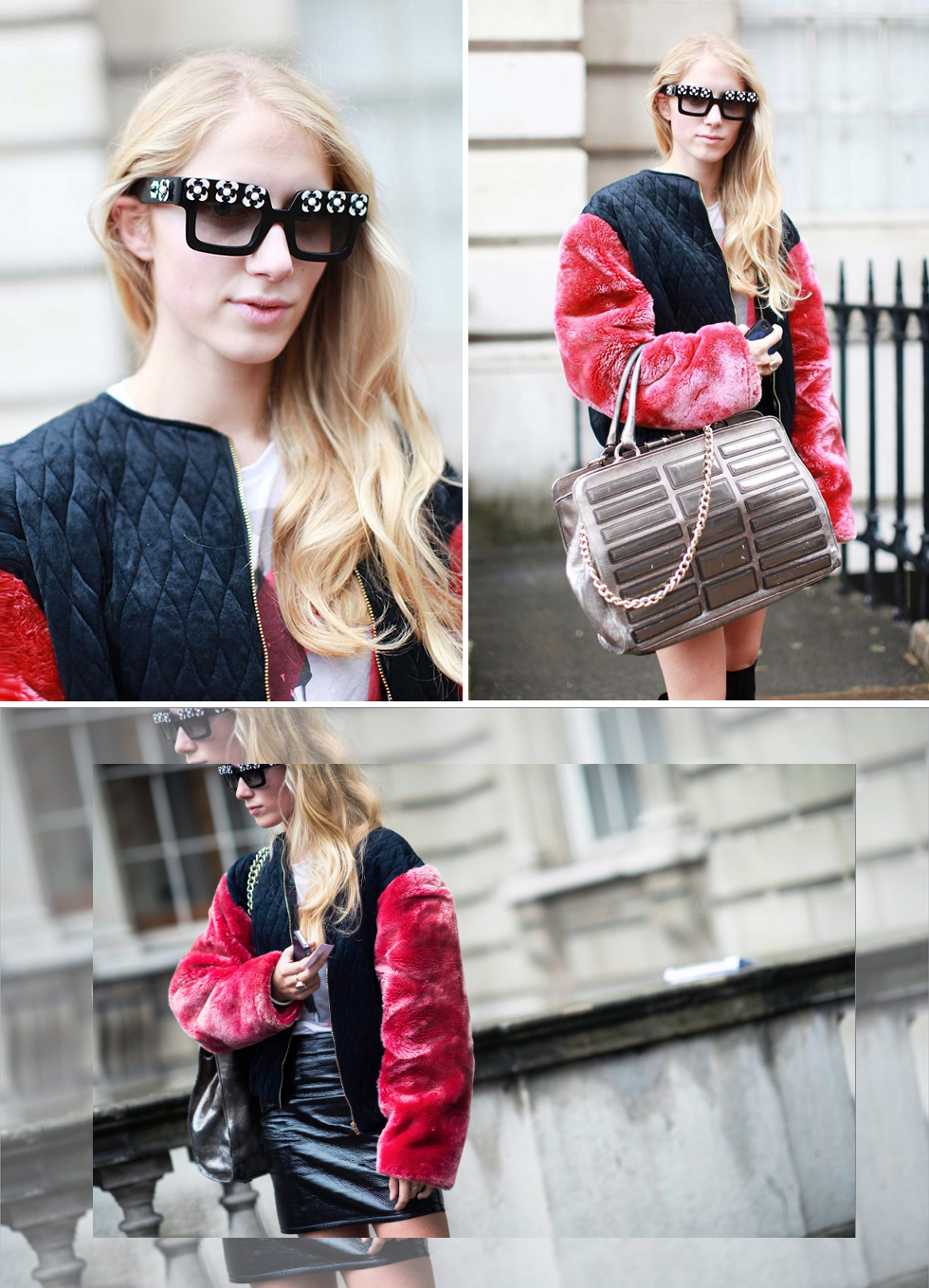 LFW-Pink sleeve jacket
